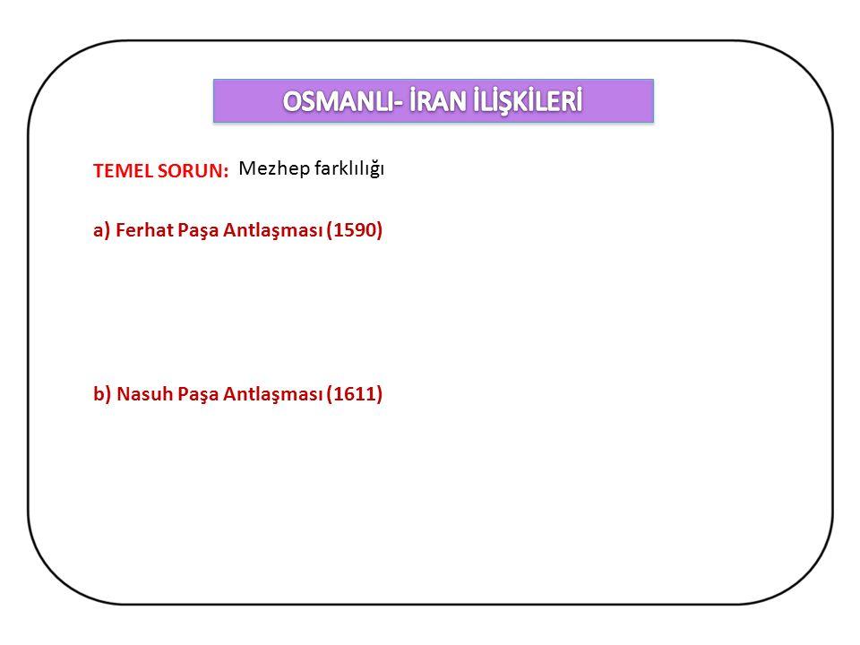OSMANLI- İRAN İLİŞKİLERİ
