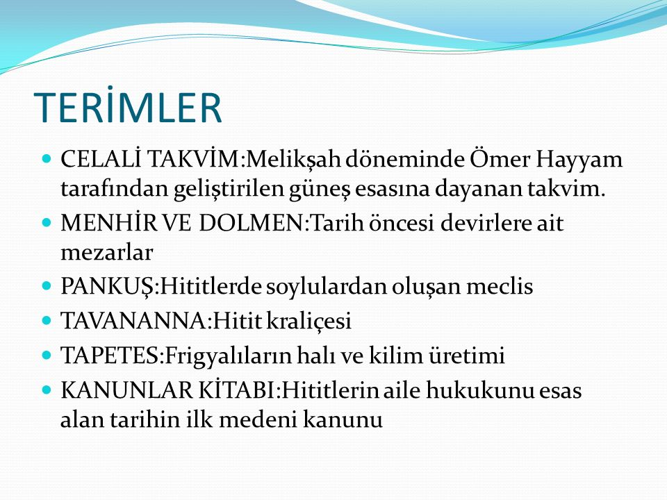 TERİMLER CELALİ TAKVİM:Melikşah döneminde Ömer Hayyam tarafından geliştirilen güneş esasına dayanan takvim.