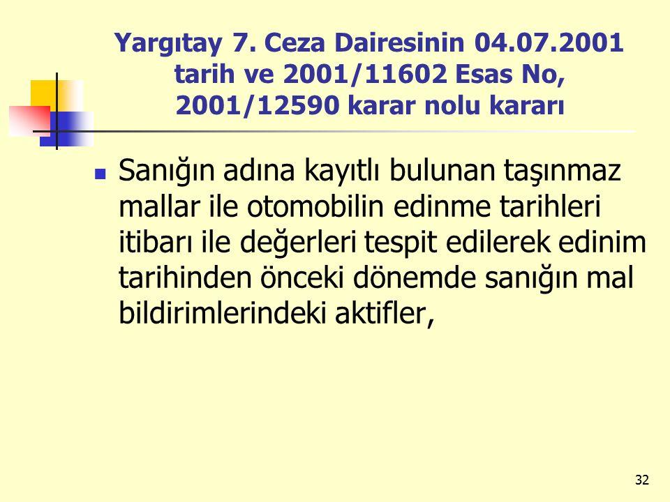 Yargıtay 7. Ceza Dairesinin 04. 07