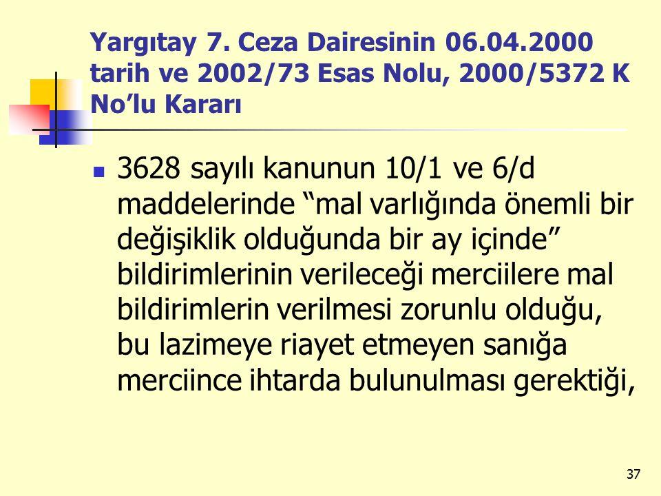 Yargıtay 7. Ceza Dairesinin 06. 04