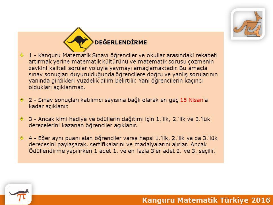 Kanguru Matematik Türkiye 2016