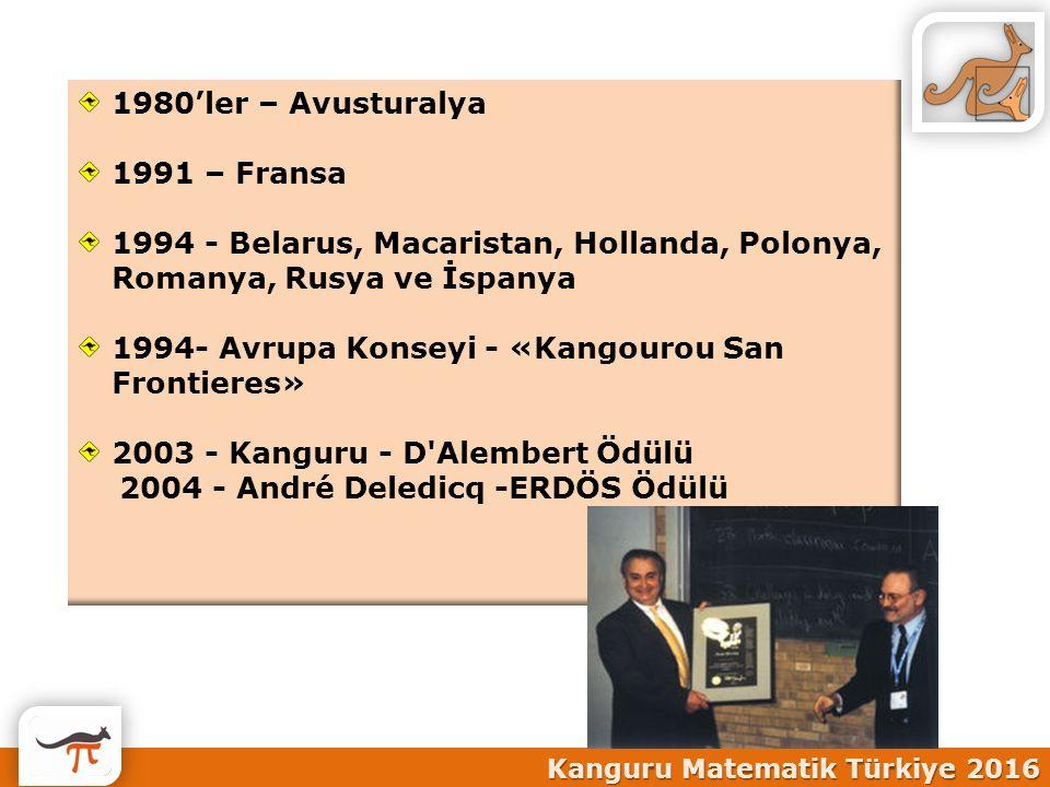 1994- Avrupa Konseyi - «Kangourou San Frontieres»
