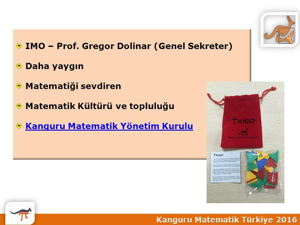 IMO – Prof. Gregor Dolinar (Genel Sekreter) Daha yaygın