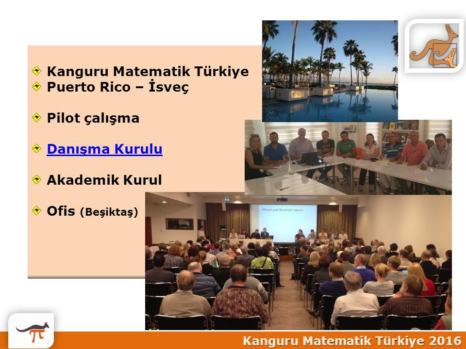 Kanguru Matematik Türkiye Puerto Rico – İsveç Pilot çalışma