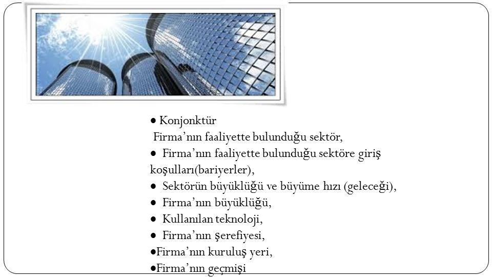 Konjonktür Firma'nın faaliyette bulunduğu sektör,  Firma'nın faaliyette bulunduğu sektöre giriş koşulları(bariyerler),