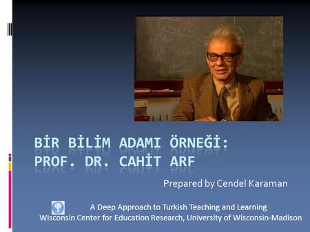 Prepared by Cendel Karaman A Deep Approach to Turkish Teaching and Learning Wisconsin Center for Education Research, University of Wisconsin-Madison.
