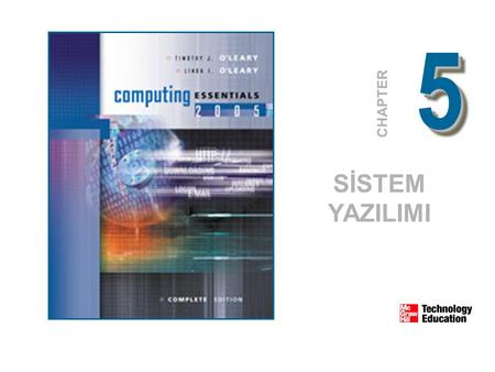 55 CHAPTER SİSTEM YAZILIMI. © 2005 The McGraw-Hill Companies, Inc. All Rights Reserved. 5-2 Sistem yazılımı Teknik detayları çözer Kullanıcı, uygulama.