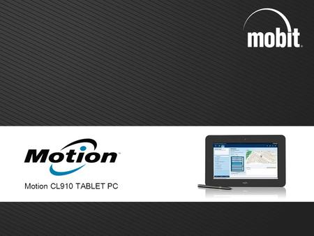 Motion CL910 TABLET PC 1.