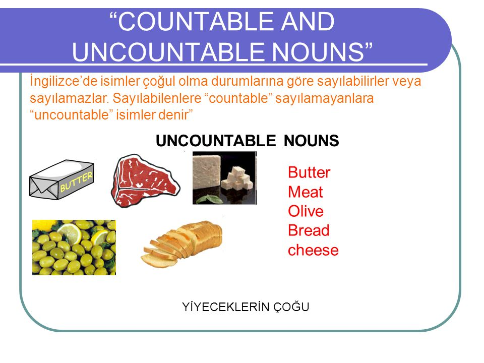 countable and uncountable nouns Uncountable nouns are nouns that come in a quantity or state that cannot be counted learn the rules of uncountable nouns here these were the rules of uncountable nouns now that you know them, it is time to practice: illustrated worksheet on countable and uncountable nouns.
