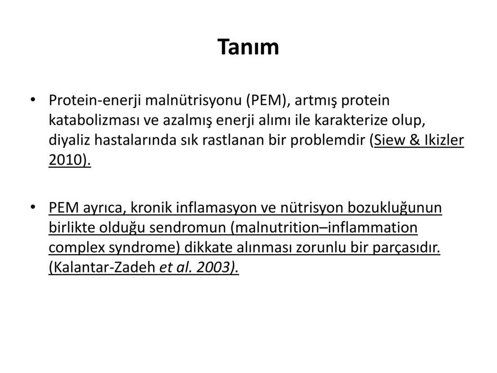 Diyaliz Hastalarında Beslenme (Hemodiyaliz-Periton Diyalizi)