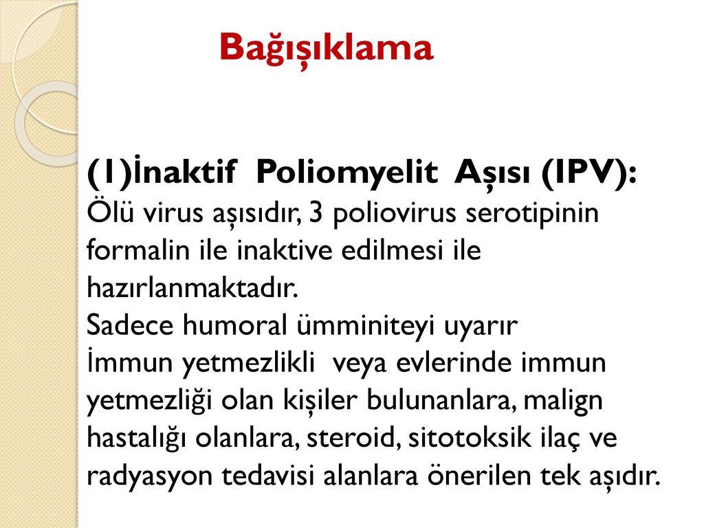Çocukta görülen poliomyelit: tehlike, tedavi ve korunma
