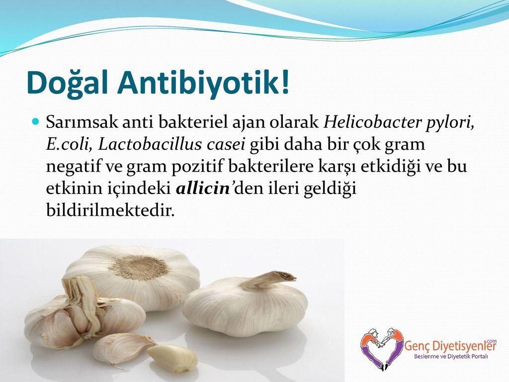Doğal Antibiyotik Sarımsak
