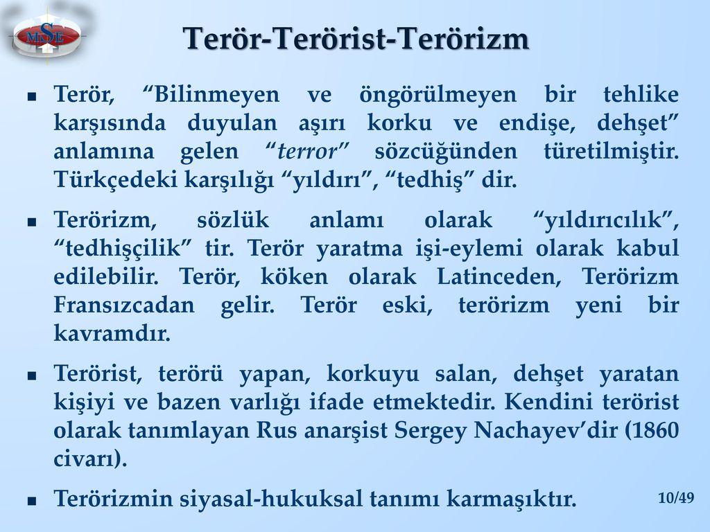 Siyasi terörizm nedir
