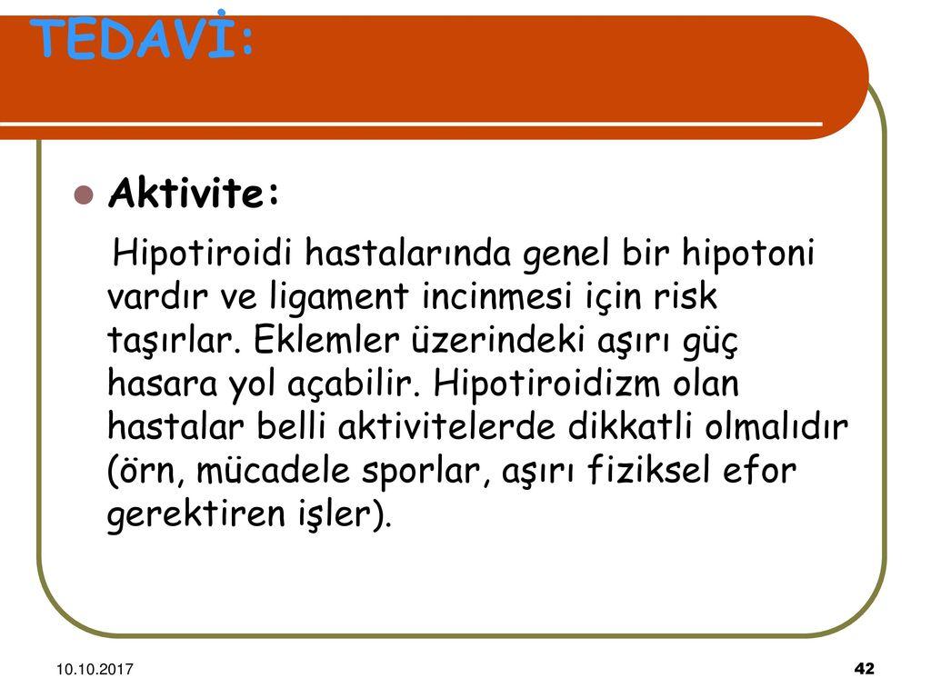 Hipotiroidi Beslenme ve Diyet Tedavisi