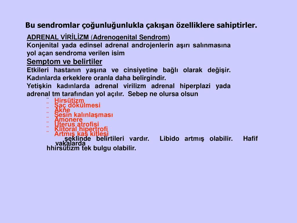 Kronik yetmezlikli adrenal bezinin semptomları