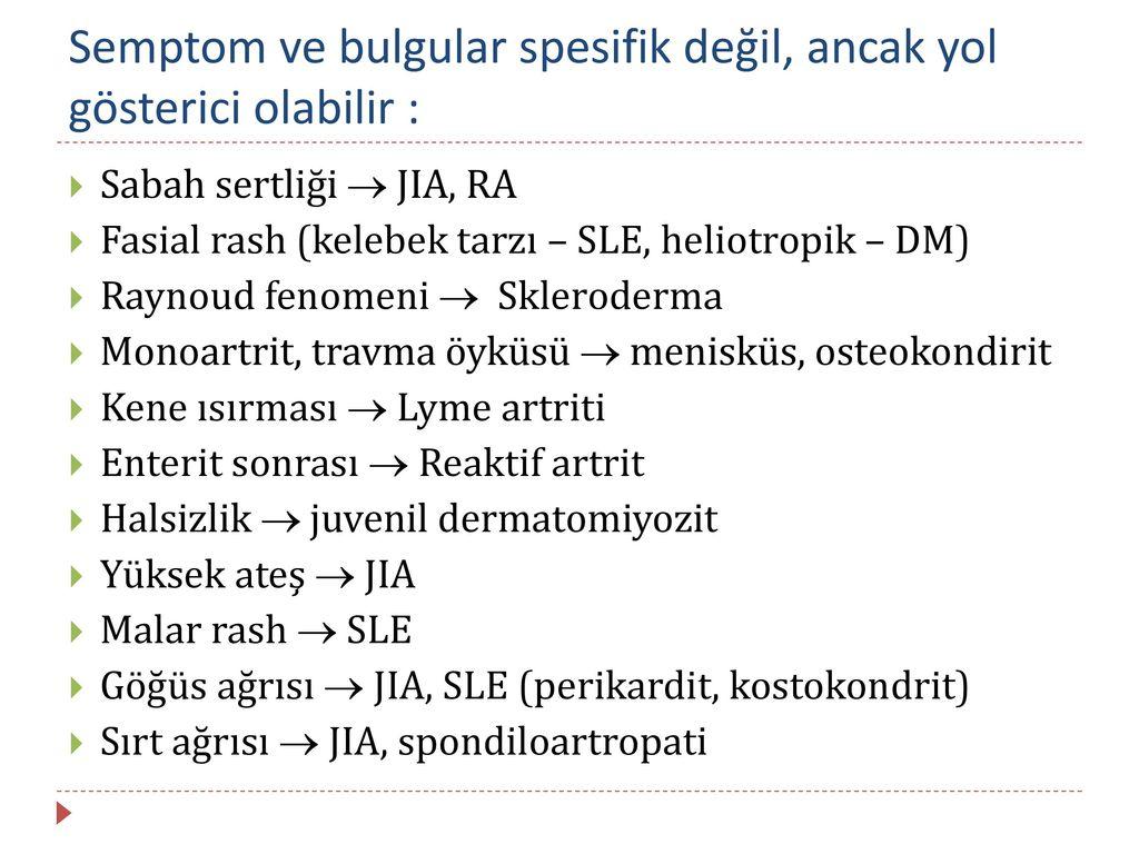 Reaktif artrit - tedavi ve önleme