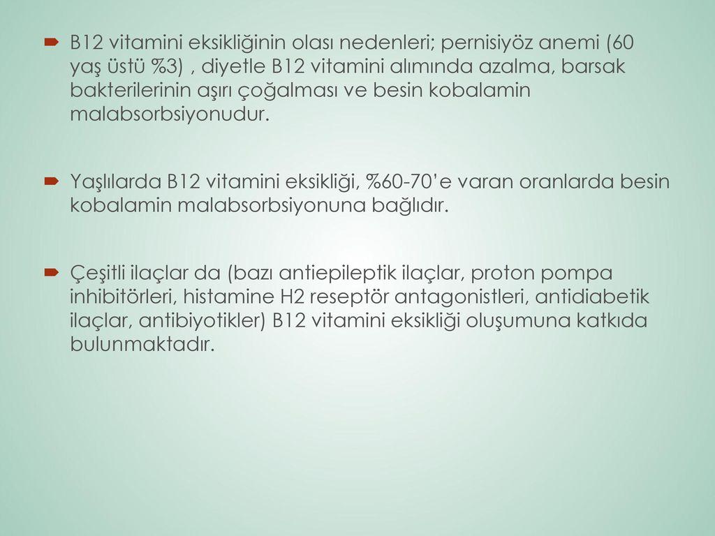 B12 Vitamin Eksikliği Nedir