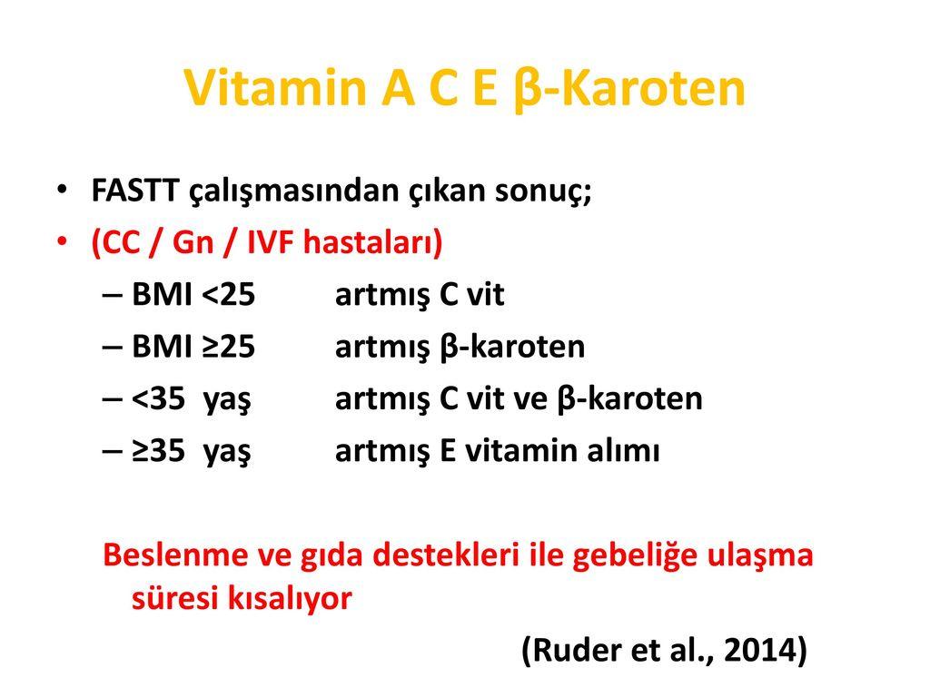 Vitamin veya Gıda Desteği İnfertiliteyi Artırır mı