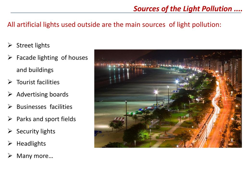 The issue of Light Pollution in Europe and the world - ppt indir