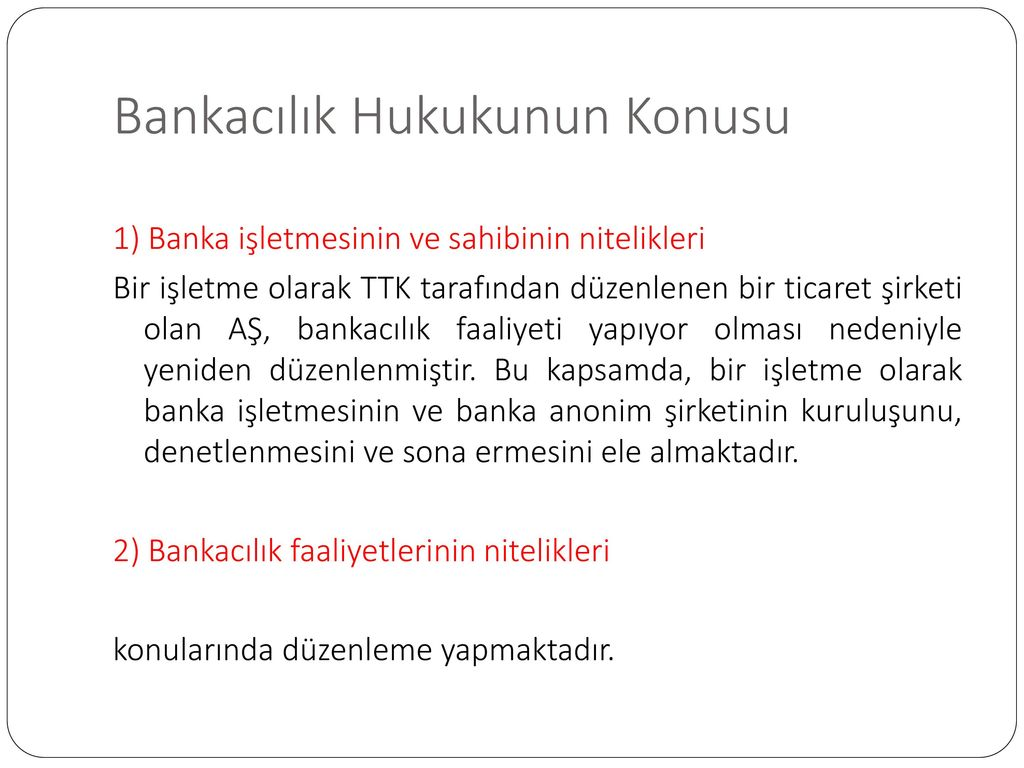 Bankacılık Yönetimi: temel özellikleri