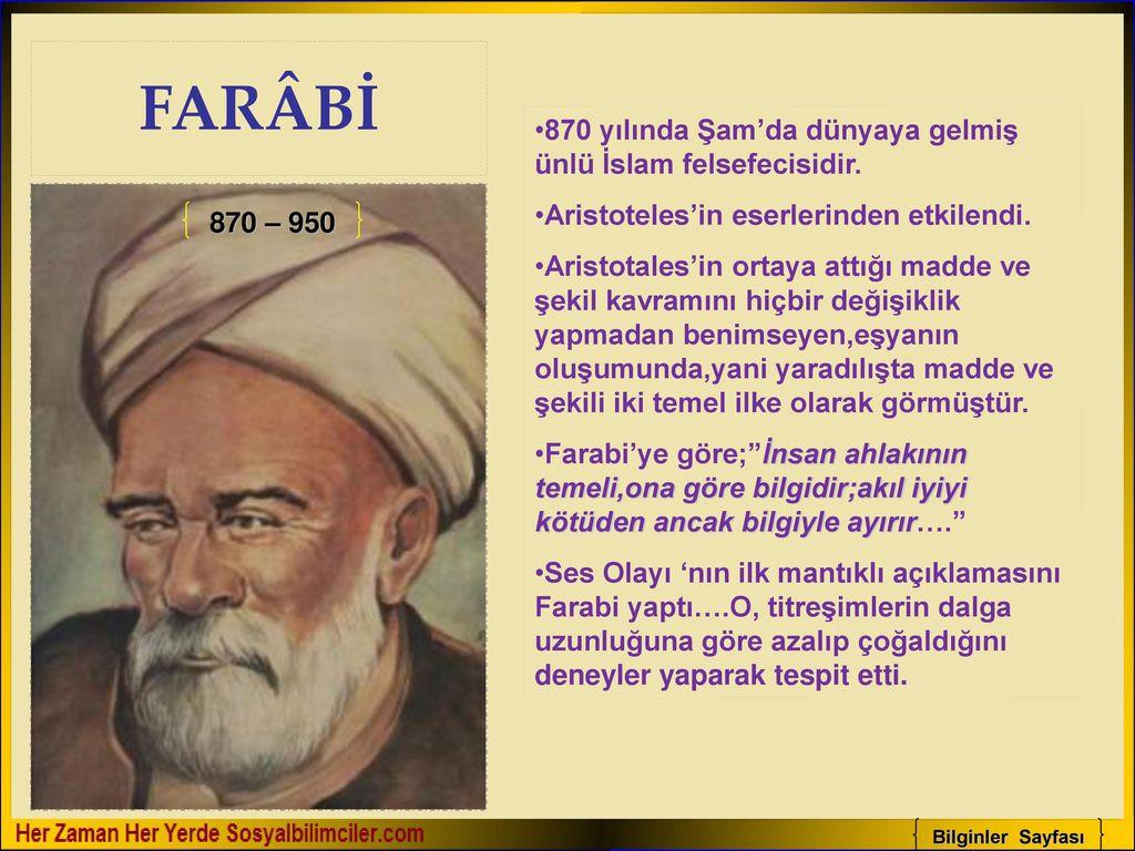 Tarihteki önemli Türk Islam Bilginleri Ppt Video Online Indir
