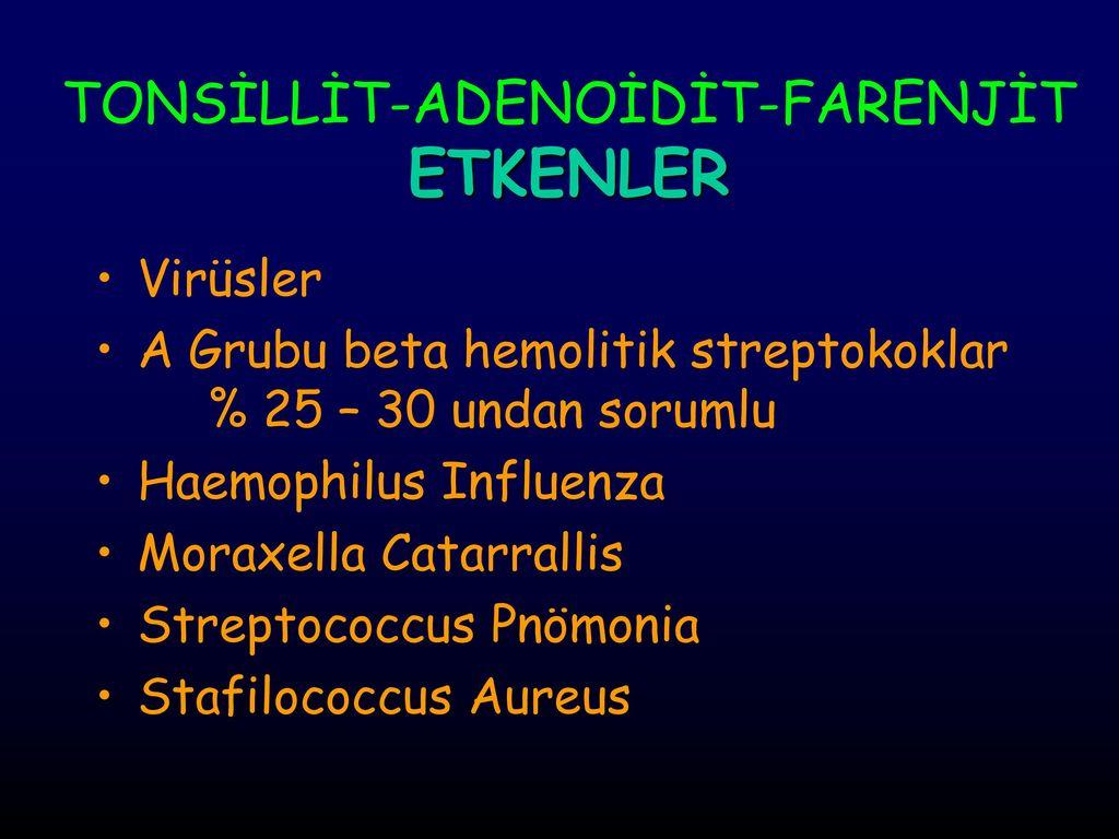 Bir çocukta adenoidit tedavisi ne olmalıdır
