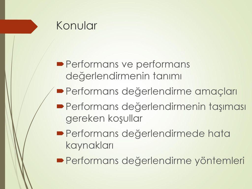 Personel değerlendirmesinde değerlendirme metodları ve kriterleri