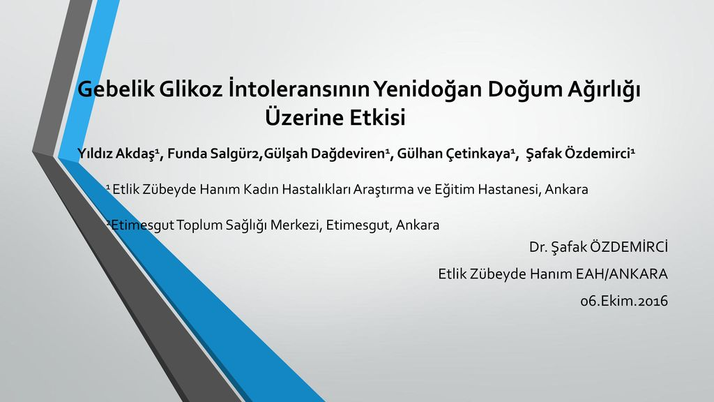 Dr Safak Ozdemirci Etlik Zubeyde Hanim Eah Ankara 06 Ekim