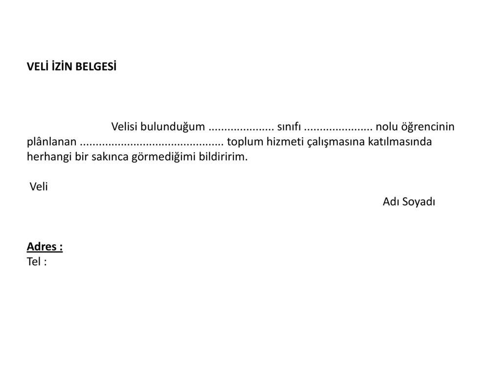 Gezi belgesi veli izin Gezi Veli