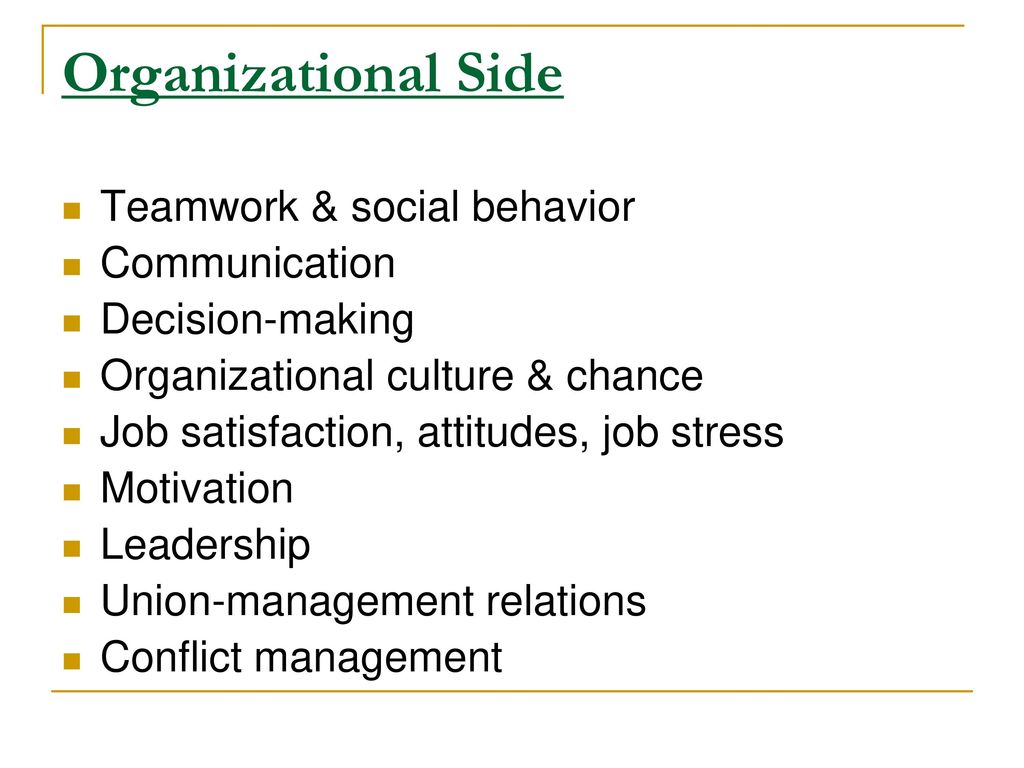 organizational behavior chapter 3 attitudes and job satisfaction ppt Chapter learning objectives after studying this chapter, you should be able to: -contrast the three components of an attitude -summarize the relationship between attitudes and behavior.