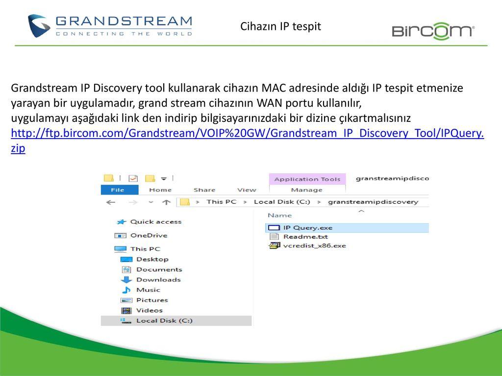 Grandstream Discovery Tool