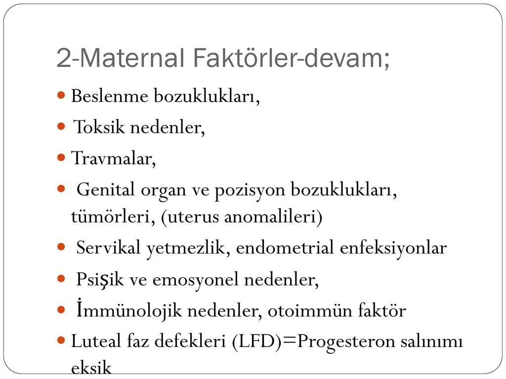 Progesteron yetmezliği
