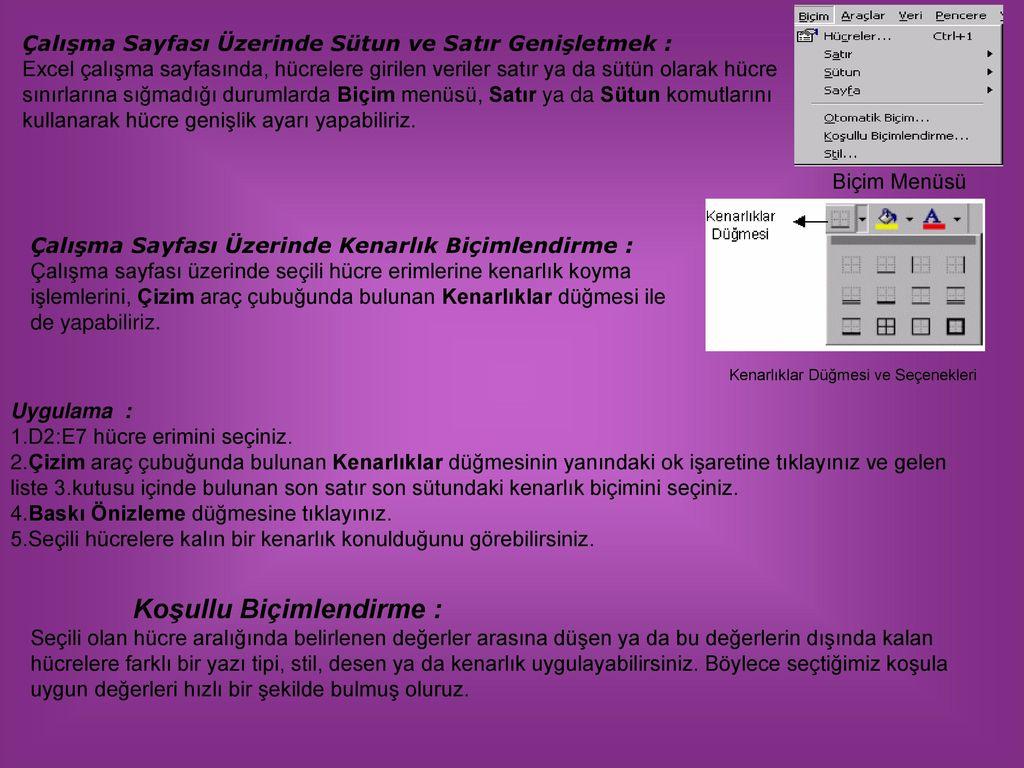 Dilovasi Teknik Lise Ve C P L Ms Excel 2003 Ogrtmen Kursat Kus