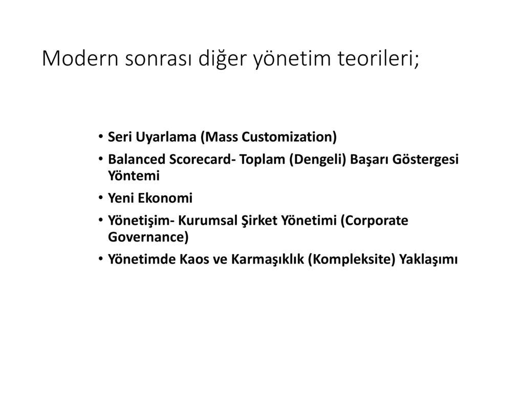 Yönetimde ekonomik yönetim yöntemleri