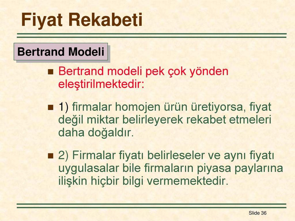 Tekelci rekabet - piyasa modelinin bir açıklaması