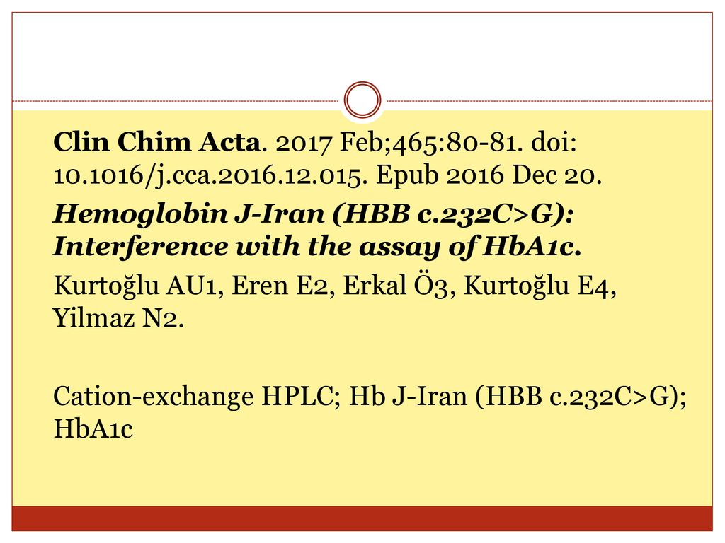 Clin Chim Acta Feb;465: doi: /j.cca Epub 2016 Dec 20.