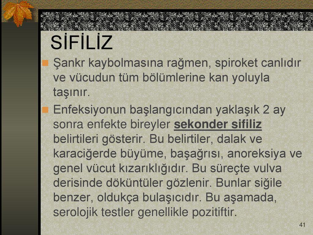 Sekonder sifiliz - belirtiler ve belirtiler