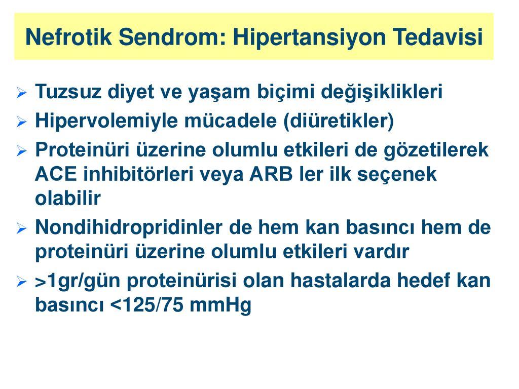 Nefrotik sendrom: nedenleri, klinik, tedavi