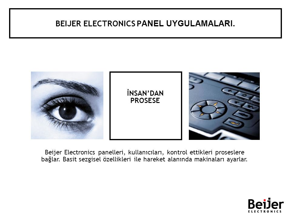 BEIJER ELECTRONICS PANEL UYGULAMALARI.