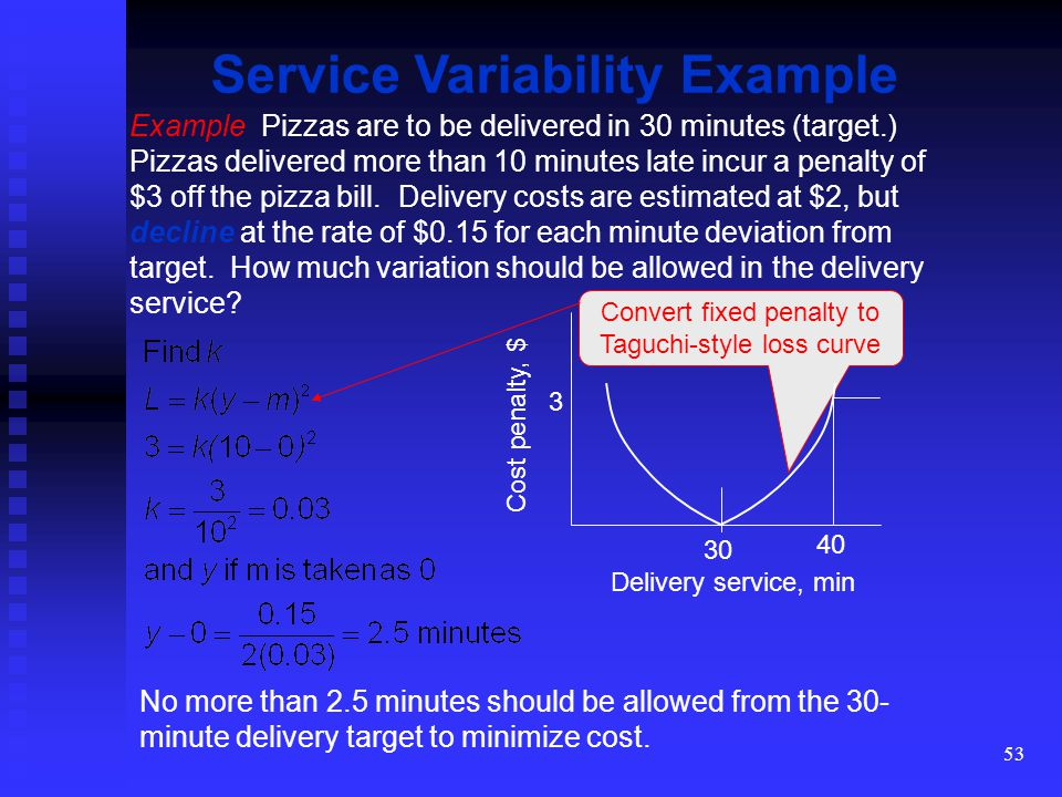 Service Variability Example