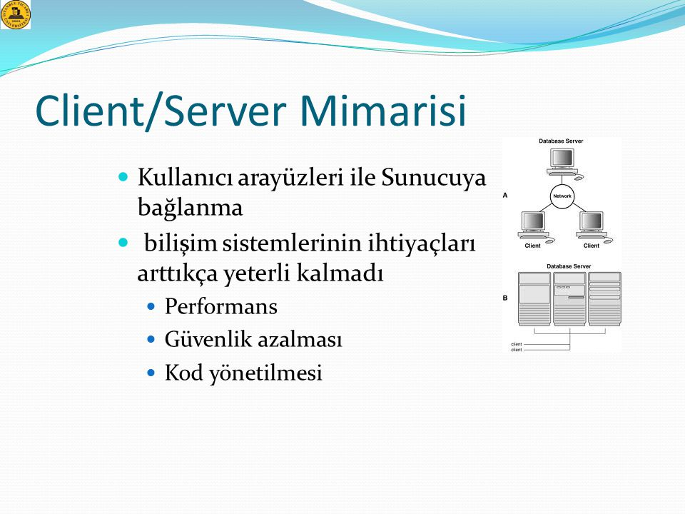 Client/Server Mimarisi