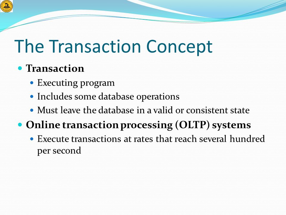 The Transaction Concept
