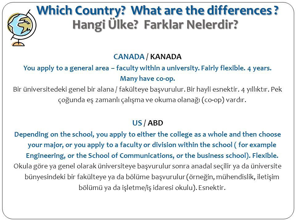 Which Country What are the differences Hangi Ülke Farklar Nelerdir