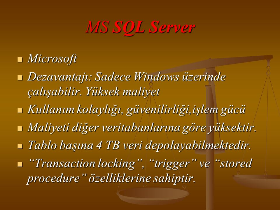 MS SQL Server Microsoft