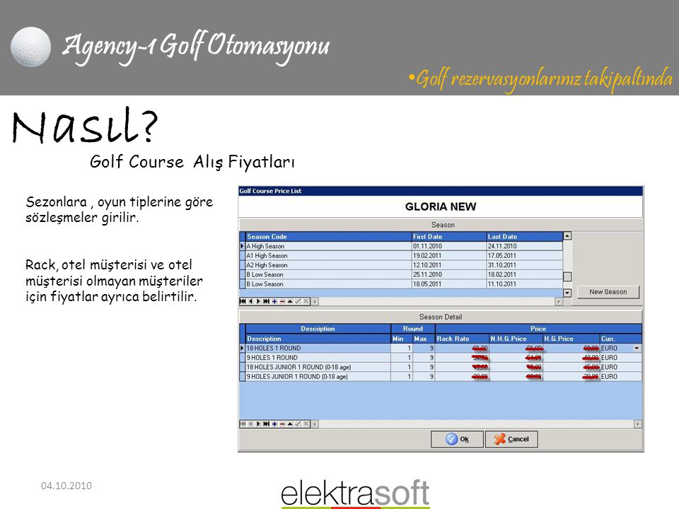 Agency-1 Golf Otomasyonu