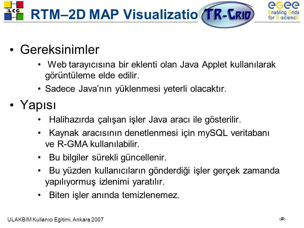 RTM–2D MAP Visualization