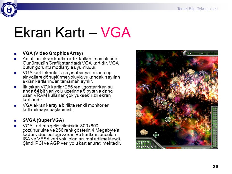 Ekran Kartı – VGA VGA (Video Graphics Array)