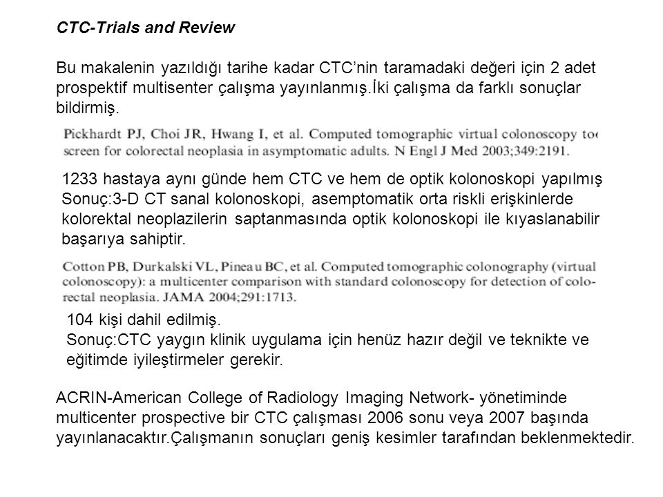 CTC-Trials and Review