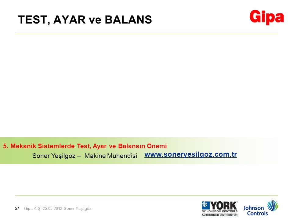 TEST, AYAR ve BALANS