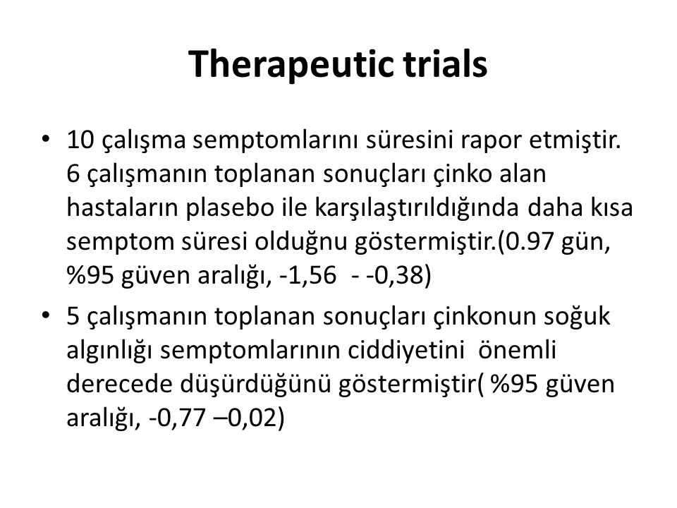 Therapeutic trials